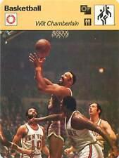 FICHE CARD: Wilt Chamberlain USA Joueur Pivot Center Basketball 1970s