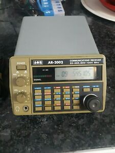 AR2002 AOR RECEIVER  25-550 + 800-1300MHZ + TESTED WORKS AS IT SHOULD