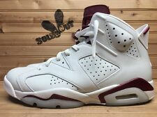 2016 Nike Air Jordan Retro VI 6 sz 11.5 Off White Maroon 384664-116