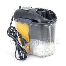 Efficient Aquarium Fish Tank Mini External Filter Canister + Sponge, Carbon..