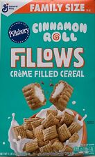 NEW GENERAL MILLS FAMILY SIZE PILLSBURY CINNAMON ROLL FILLOWS CEREAL 22 OZ BOX