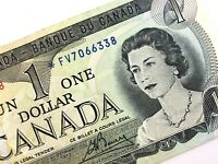 1973 Canada One 1 Dollar Circulated FV Replacement Lawson Bouey Banknote R015