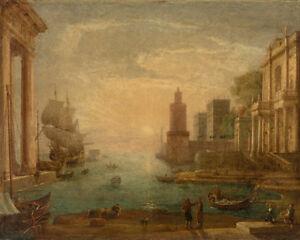 Seaport with Ulysses by Claude Lorrain 60cm x 48cm Art Paper Print