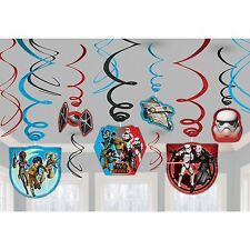 STAR WARS Rebels HANGING SWIRL DECORATIONS Foil Birthday Party Supplies Favors
