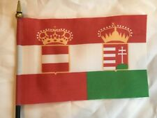 "Austro-Hungarian Naval or War Ensign 1869-1918 Mini Desk Flag 4"" x 6"" WW 1 WWI"