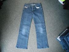 "Diesel Skint Jeans Waist 28"" Leg 28"" Faded Dark Blue Ladies Jeans"