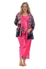 Geblümte Damen-Pyjama-Sets im Langarm