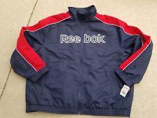 NWT $180 REEBOK Performance Soft Shell Men Jacket Navy/Red Plus Size 5XL