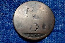 GR. BRITAIN: 1860 SCARCE LARGE PENNY: IN ABOUT GOOD CONDITION! QUEEN VICTORIA!