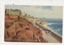 The Rockery Promenade NS Blackpool 1948 Art Postcard 662a