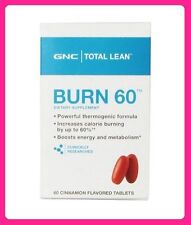 GNC Total Lean Burn 60 tablets Thermogenic Fat Burner Energy Total Lean BURN