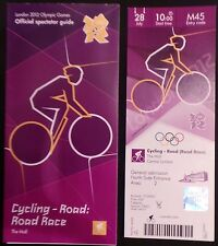 LONDON 2012 TICKET CYCLING ROAD RACE THE MALL 28 JULY AND SPECTATOR GUIDE *MINT*