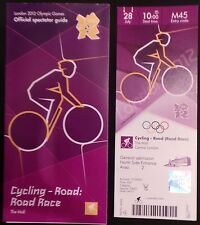 London 2012 Olympic ticket CYCLISME Course sur route le centre commercial 28 juillet & Spectator Guide