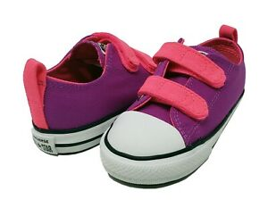 Converse Toddler Purple Cactu Chuck Taylor All Star 2V Ox Straps Canvas 740613C