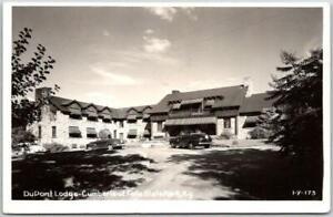 "Cumberland State Park, Kentucky RPPC Postcard ""Dupont Lodge"" CLINE Photo - 1950"