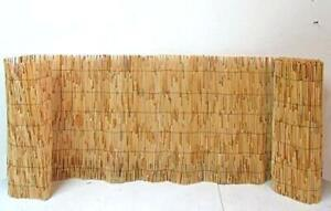 Bamboo Screening Roll Natural Fence Panel Peeled Reed Fencing Outdoor Garden 4m