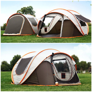 Tent for 3-4 Person 3 IN 1 Waterproof UV Resistance Large Family Camping Tent