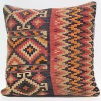 """24""""X24"""" Home decorative Kurdish pillow cover Handmade kilim vintage kilim rug"""