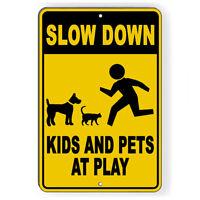 SLOW GRANDKIDS AT PLAY Decal children kids speed limit driving traffic