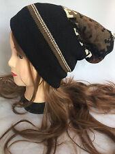 Unisex Women men Winter Warm Knit Oversize Beanie Slouchy Thick Ski Cap Hat