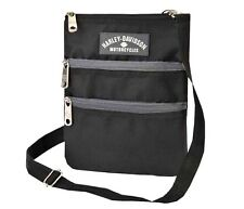 Harley-Davidson® Women's Black Crossbody Messenger Bag Sling Hip Purse 99616