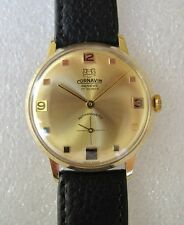 Vintage hand winding Cornavin men's dress watch in gold plated case 1960 NOS