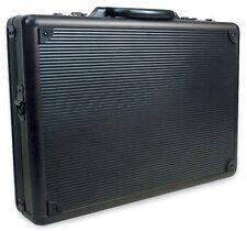 Business Briefcase Bag Hard Case Aluminum Laptop Portfolio Work Handbag Black