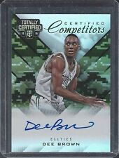 DEE BROWN 2015-16 TOTALLY CERTIFIED COMPETITORS CAMO ON CARD AUTO #D 25/25