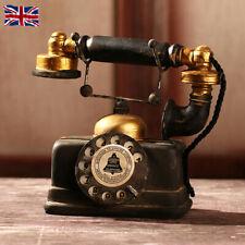 More details for antique telephone creative retro resin rotary dialing phones cafe bar home decor