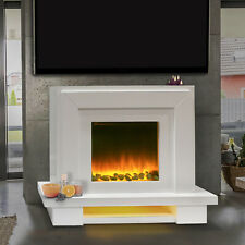 Free Standing Electric Fire Italian Designer Surround Fireplace Flicker Flame