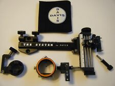 "4"" DAVIS TARGET SIGHT- Double knob-5.75 -black/black knobs-scope .019 green,,"
