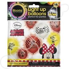 15 Minnie Mouse Illooms LED Light Up Balloons Birthday Party Halloween Childrens