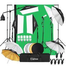 1.6 x 3M Backdrop Photography Video Studio Lighting Kit Umbrella Softbox Set