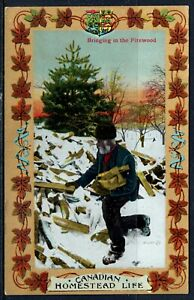 Patriotic, Canada, Canadian Homestead Life, Bringing in the Firewood, JV 103,043