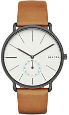 Men's Skagen Hagen Brown Leather Band Watch SKW6216