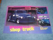 "1947 Chevy 5-Window Mild Custom Pickup Truck Article ""Shop Truck"""