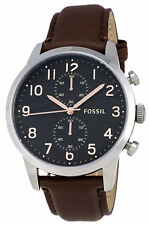 Fossil FS4873 Men's Townsman Brown Leather Band Brown Dial Chronograph Watch