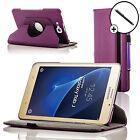 Cuir Violet Rotatif Smart Étui Housse Pour Samsung Galaxy Tab J / J Max Stylet