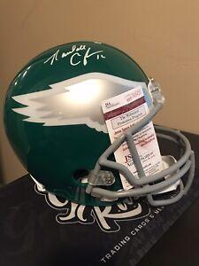 Randall Cunningham Autographed Philadelphia Eagles Full-Size Football Helmet JSA