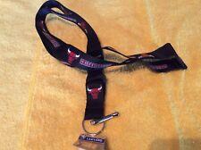 NBA Chicago Bulls Black Breakaway Lanyard Key chain