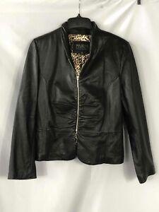 Wilsons Leather Black Leather Jacket - Size XL Women's