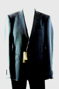 CANALI ITALY FOR BLACK LABEL CAVALLI-150's Navy Mod-Fit JKT-$745-40