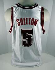 Alabama Crimson Tide Earnest Shelton #5 Game Used White Jersey Bama00187