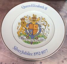 Queen Elizabeth II Silver Jubilee 1977 Commemorative Plate Woods & Sons 🇬🇧