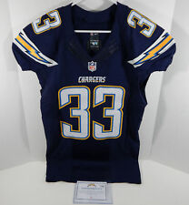2015 San Diego Chargers Greg Ducre #33 Game Issued Navy Jersey