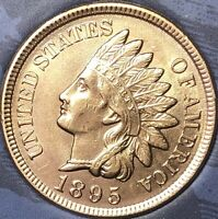 1895 INDIAN HEAD PENNY 4 DIAMONDS  ***BEAUTIFUL PENNY***Cleaned