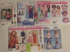 Lot of 7 American girl doll clothes patterns fits 18 in doll new and uncut #1