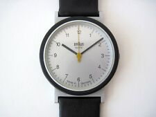 VTG 80s BRAUN Quartz Wrist Watch 4789 AW 10 D. Lubs Germany Bauhaus 20 12 Rams