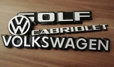 Emblem Schriftzug Golf 1 cabrio Reperatur Set Aufkleber MK1 I