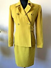 COVERS VINTAGE WOMENS 2 PIECE  YELLOW SUIT (labelled Size 8)